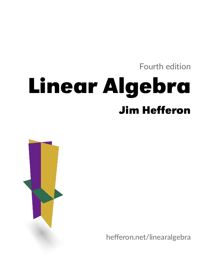 Linear Algebra textbook home page